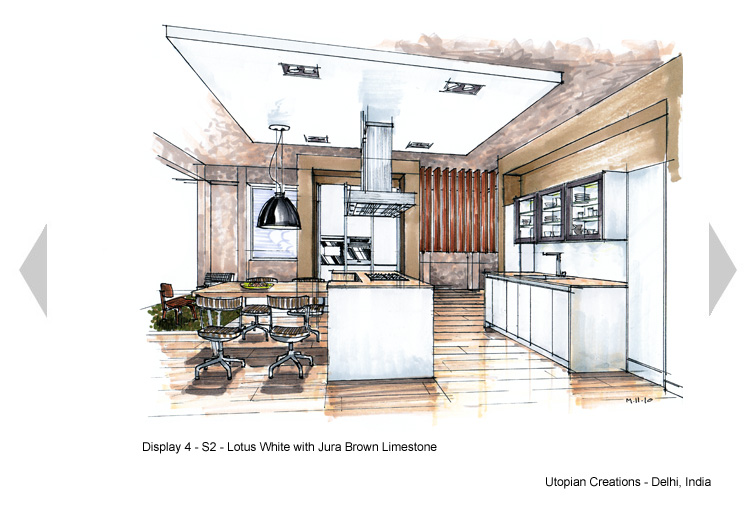 Commercial Kitchen Plan View Rendered